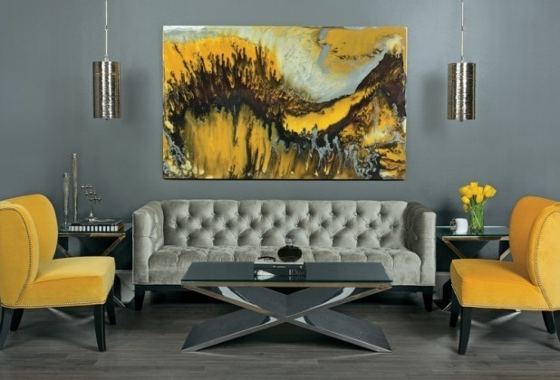 charcoal-and-light-gray-9 Newest Home Color Trends for Interior Design in 2017