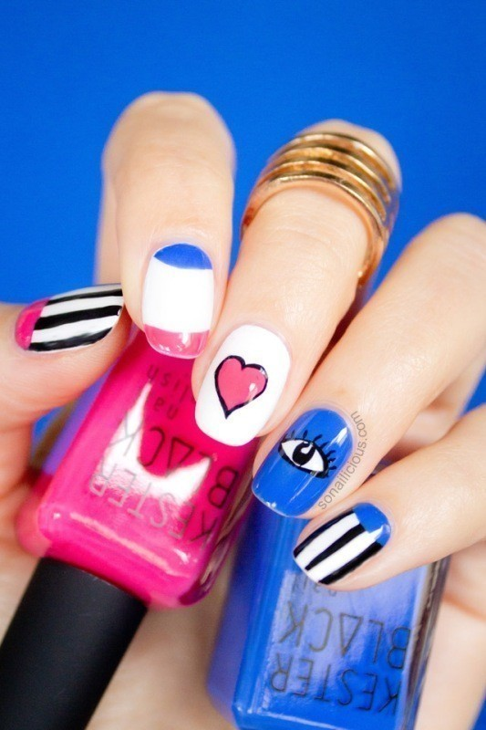 Valentines-Day-Nails-2017-10 50+ Lovely Valentine's Day Nail Art Ideas 2017