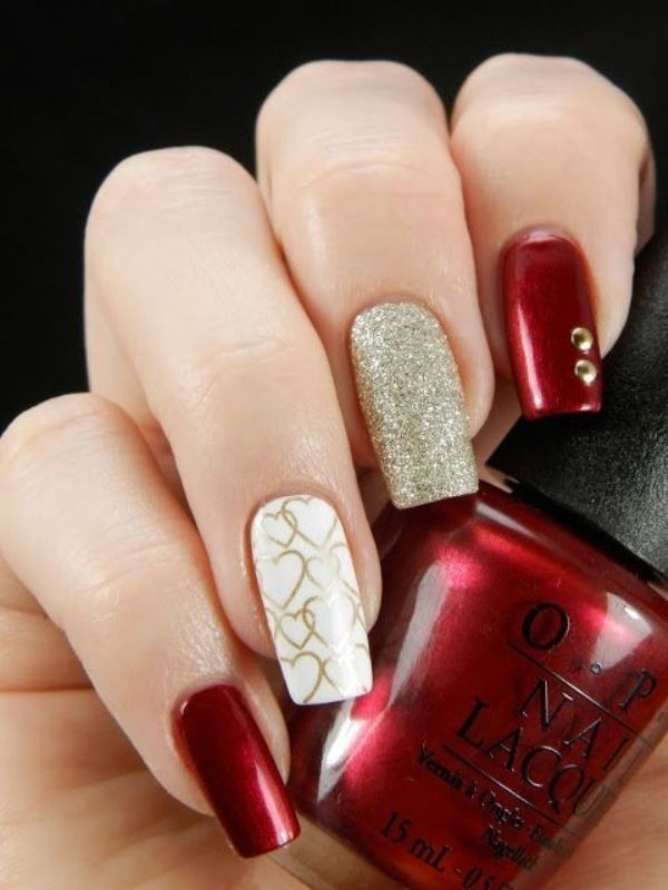 Valentines-Day-Nails-2017-20 50+ Lovely Valentine's Day Nail Art Ideas 2017