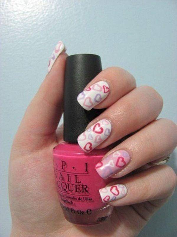 Valentines-Day-Nails-2017-24 50+ Lovely Valentine's Day Nail Art Ideas 2017