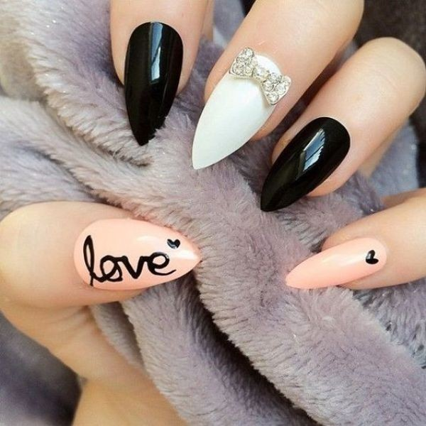 Valentines-Day-Nails-2017-57 50+ Lovely Valentine's Day Nail Art Ideas 2017