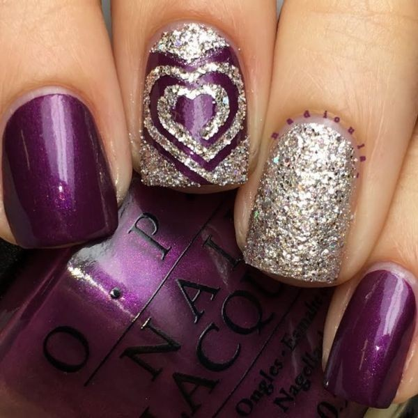 Valentines-Day-Nails-2017-63 50+ Lovely Valentine's Day Nail Art Ideas 2017