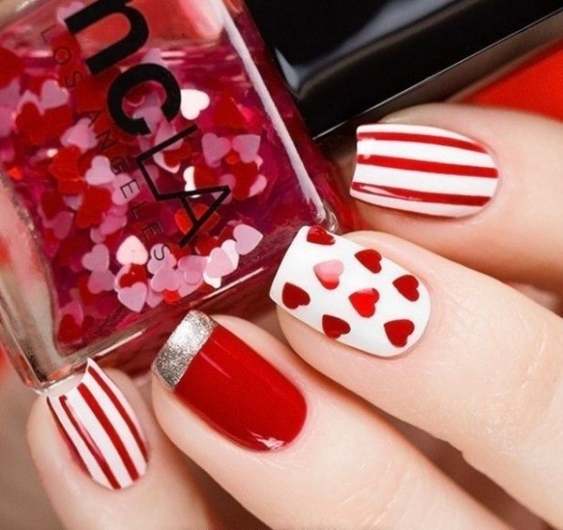 Valentines-Day-Nails-2017-84 50+ Lovely Valentine's Day Nail Art Ideas 2017