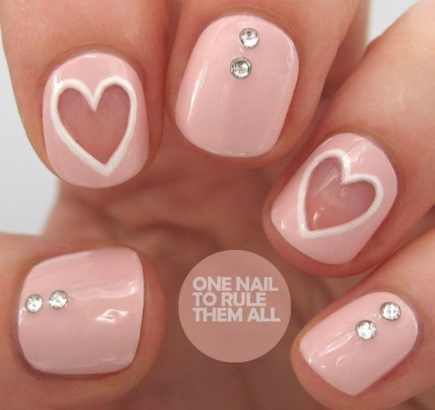 Valentines-Day-Nails-2017-87 50+ Lovely Valentine's Day Nail Art Ideas 2017