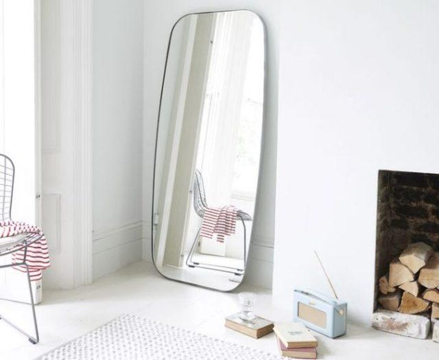 bedroom-inigo-floor-mirror-loaf-curved-living-contemporary-modern-675x553 15 Interior Design Tips & Ideas for Narrow Small Spaces