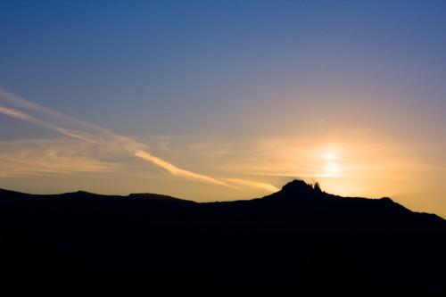 Sunset on Ceahlau-Toaca