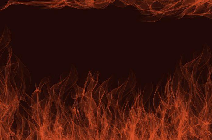 Corsica took fire