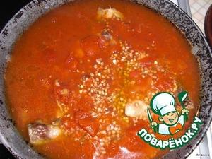 Курица с гречкой в томатном соусе – кулинарный рецепт