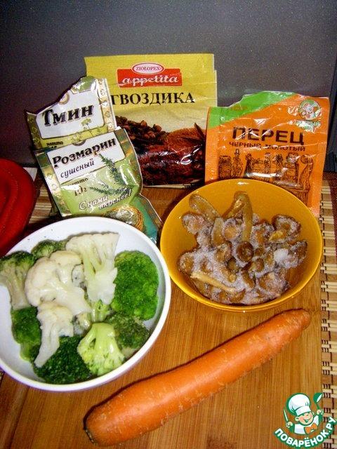 Суп из индейки с овощами и опятами – кулинарный рецепт
