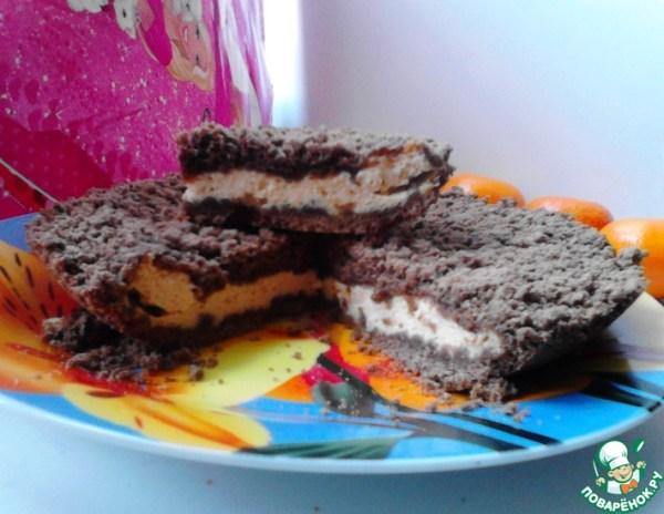 Шоколадная королевская ватрушка с начинкой – кулинарный рецепт
