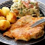 Отбивная из куриного окорочка с картофелем – кулинарный рецепт