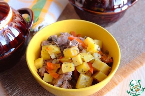 Жаркое с мясом индейки в горшочках – кулинарный рецепт