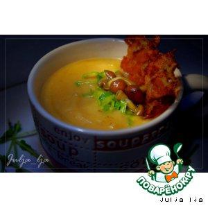 Сливочно-сырный крем-суп из овощей с опятами – кулинарный ...