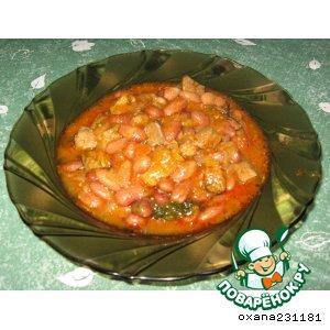Свинина с фасолью – кулинарный рецепт