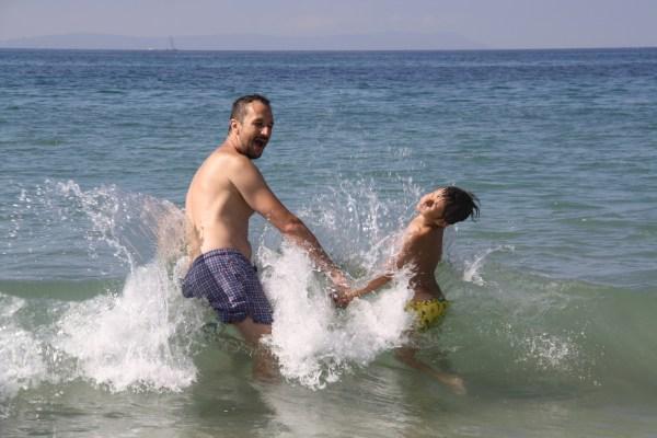 Šantenie na pláži - Playa de los Lances, Tarifa, Španielsko