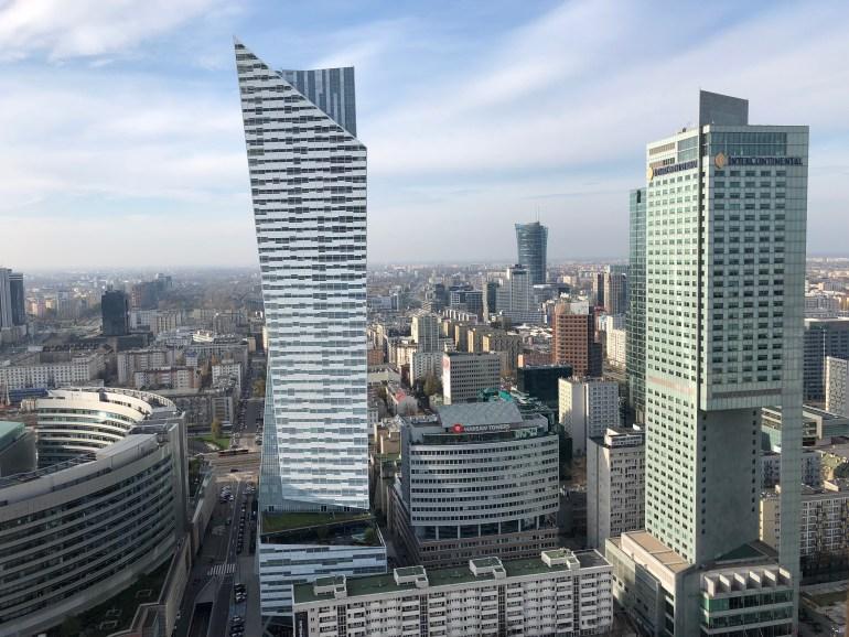 Ale výhľady na Varšavu sú z paláca parádne