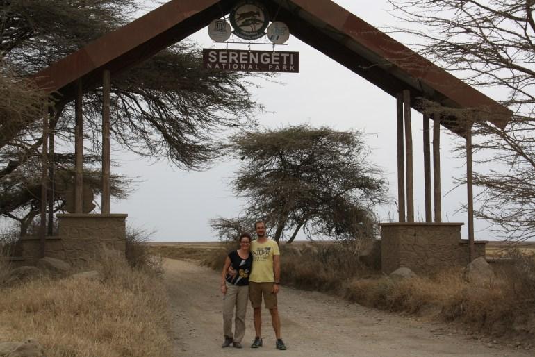Vstup do národného paru Serengeti