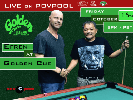 Efren at Golden Cue Billiards povpool