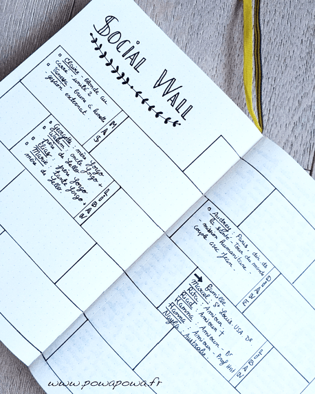 social wall bullet journal