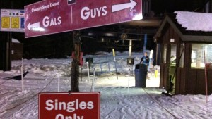 single on the double chair at ski bowl