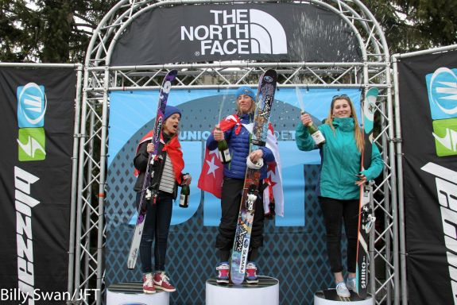 The girls podium. PHOTO: BILLY SWAN/JFT