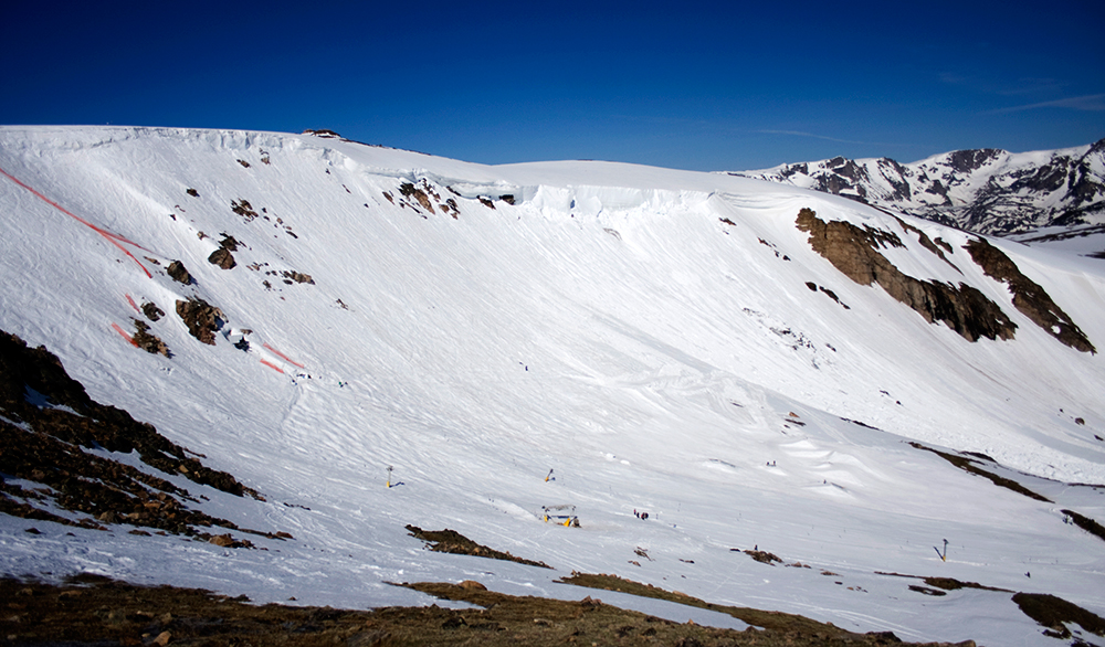 Beartooth Basin is just 25 miles south of Red Lodge, Montana, and is one of two places in the U.S. to offer lift-served skiing during the summer. Giddyup! PHOTO: Sam Caylor