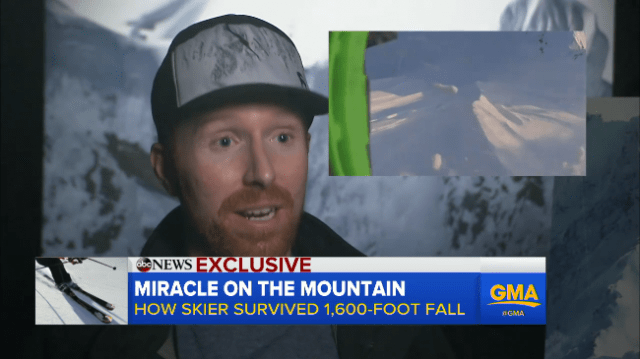 """Ian McIntosh discusses his fall on """"Good Morning America."""""""