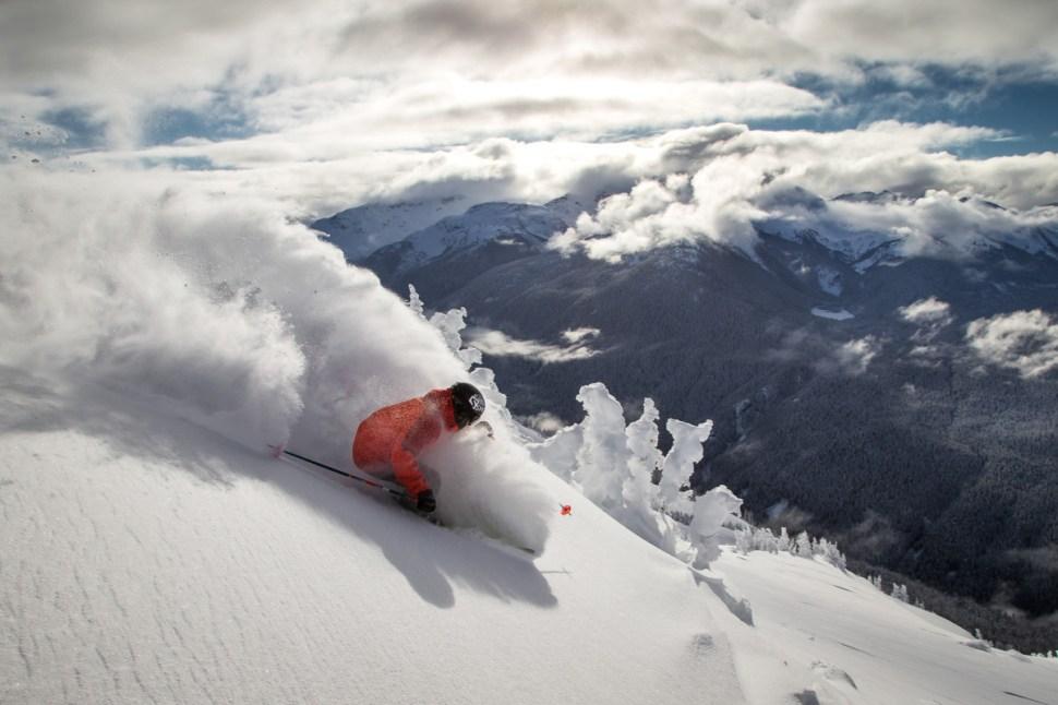 Predicting snow in the PNW. Ian Morrison. Blackcomb, British Columbia. PHOTO: Paul Morrison