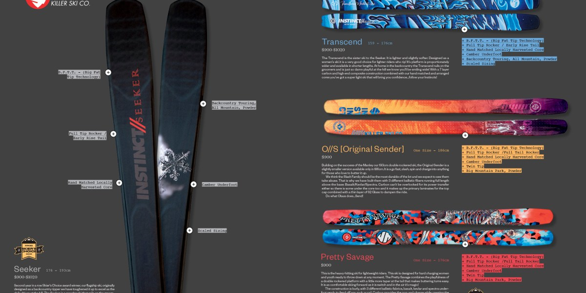 What's New from Instinct Killer Ski Co. for 2020