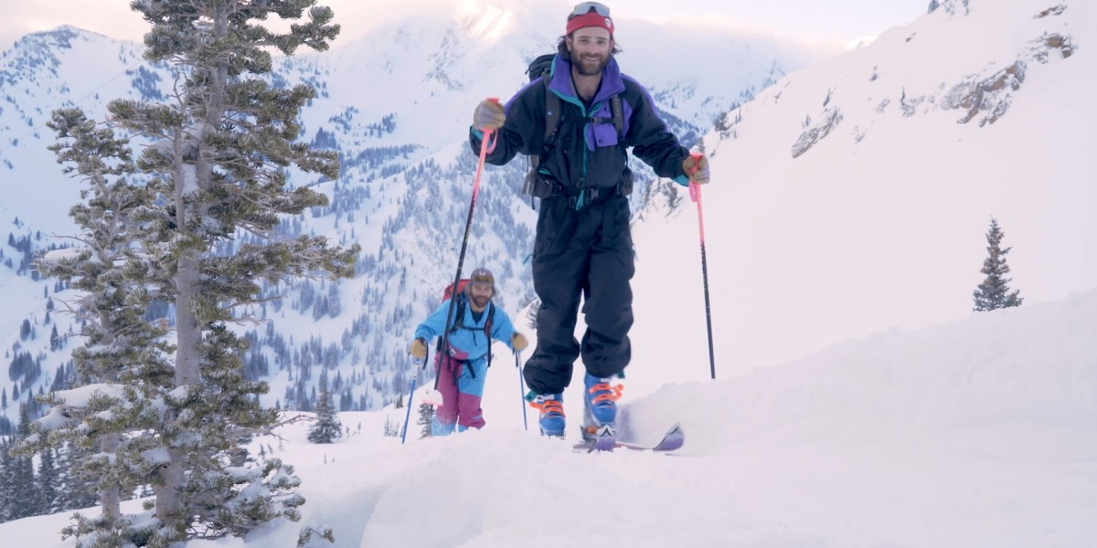 Think You're Tough? Try Skiing a Classic Descent on Straight Skis.