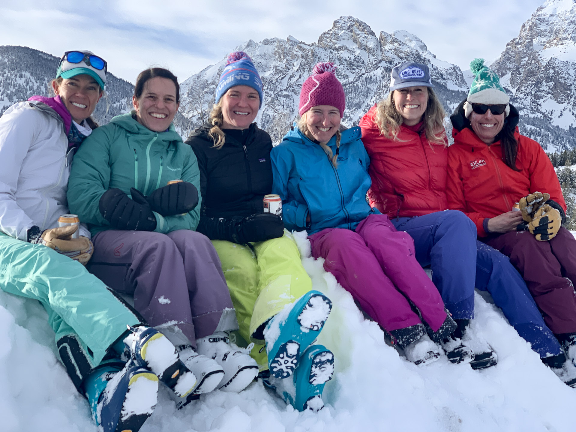 The Mom Force is we're a rotating group women who get together ever Thursday to ski tour in Jackson, Wyoming.