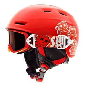 Kids Ski Helmet On