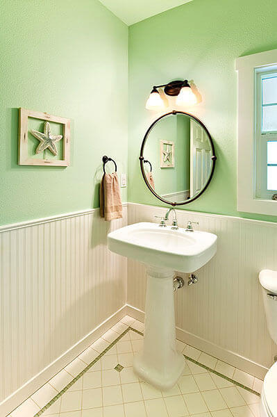 Airy Powder Room In Albany Powell Construction