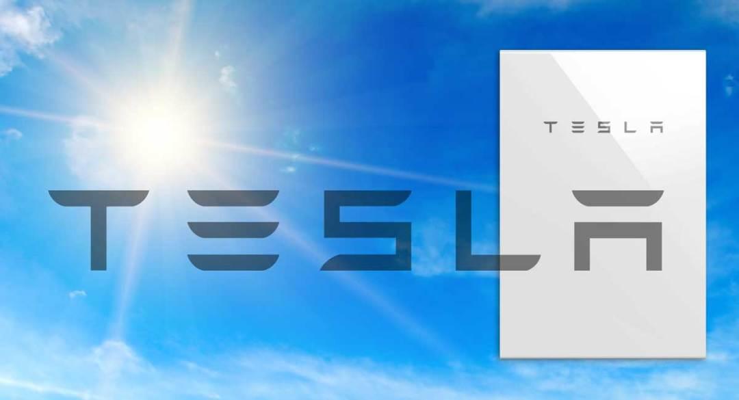 Tesla Powerwall 2 with Tesla Logo