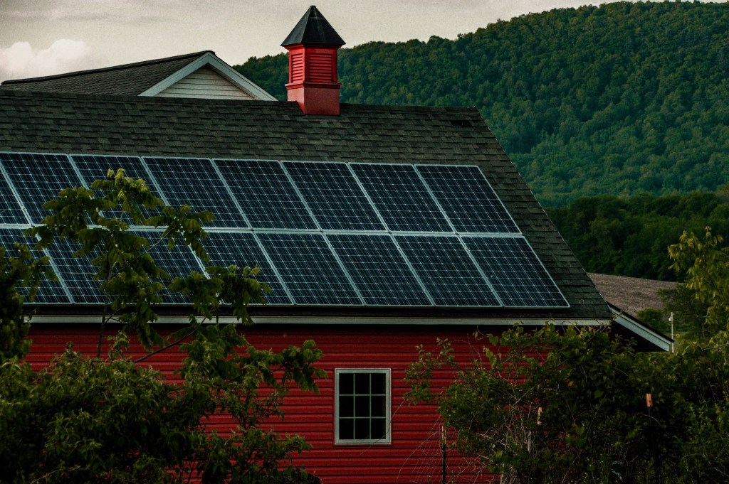 Red Barn with Solar Panels