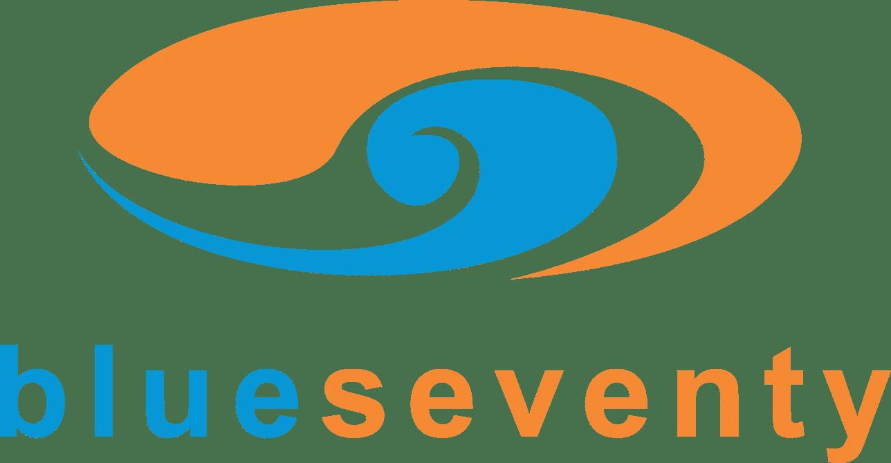 Orange and Blue logo for Blueseventy Wetsuits