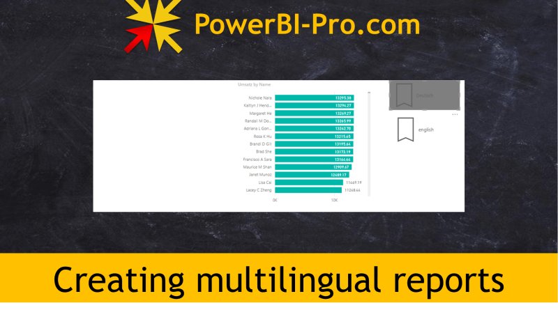 Creating multilingual reports