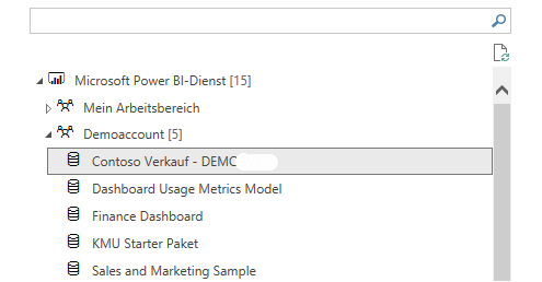 Reuse of existing Power BI data set