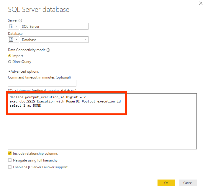 angepasstes SQL Statement