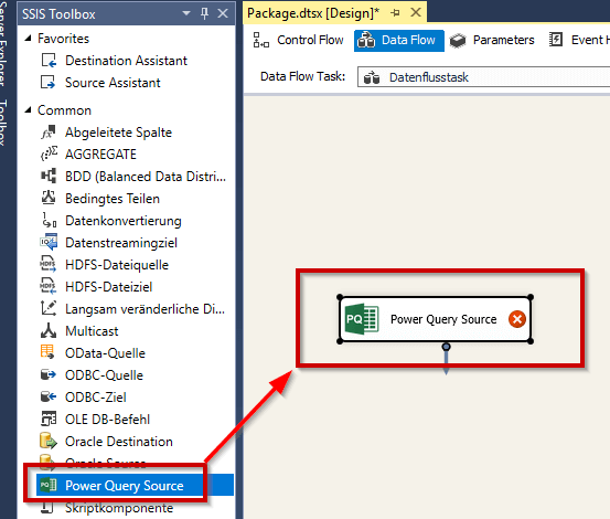 Power Query in SSIS - PowerBI Pro