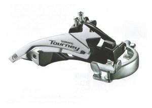 MENJAC PREDNJI SHIMANO TOURNEY FD-TY500-TS6 3X6/7 SA ŠELNOM 34.9mm (+28.6/31.8 ADPT) 42T TOP TOP-SWING DUAL-PULL najpovoljnija cena