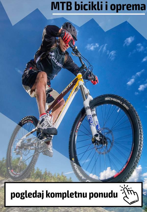 Veliki izbor MTB bicikala i opreme po povoljnim cenama