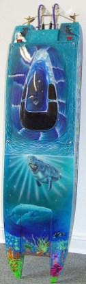 Modell von Andreas, Antrieb 2* Plettenberg 3550/4, 60 Zellen, Doppelruder, Powertrim Wellen mit Segelwindenverstellung
