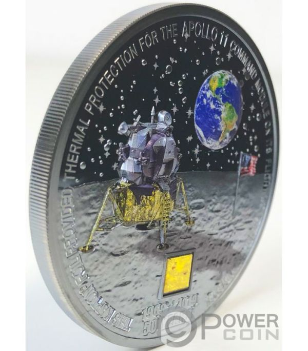 MOON LANDING Apollo 11 50th Anniversary 3 Oz Silver Coin ...