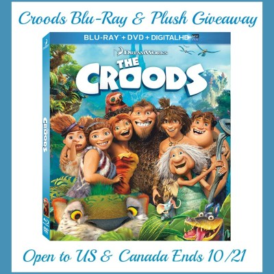The Croods Blu-Ray and Plush Toy Giveaway ends 10/21