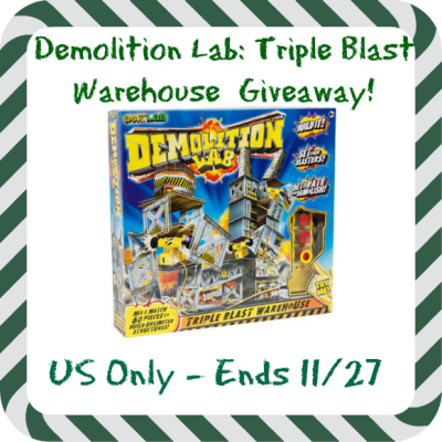 Demolition Lab Triple Blast Warehouse for Kids Holiday Giveaway ends 11/27