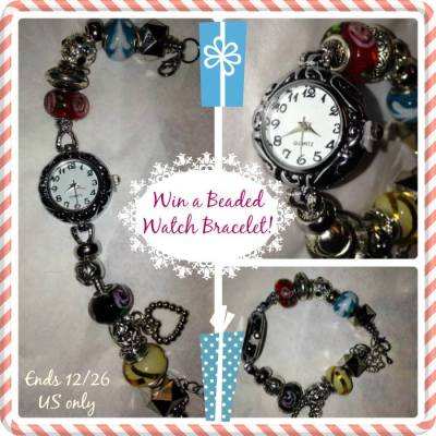 Beaded Watch Bracelet Giveaway ends 12/26