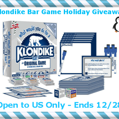 Tons of Fun with Klondike Bar Family Game Giveaway ends 12/28