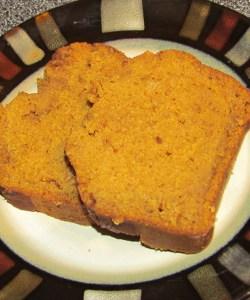 sliced pumpkin spiced bread