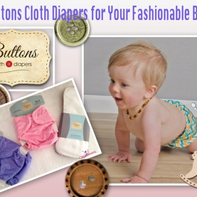 Buttons Cloth Diapers Giveaway